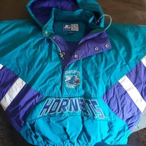 Vintage hornets pull over winters coat..
